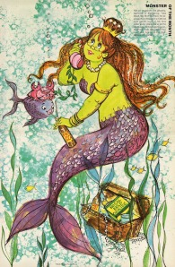 Wonderful World Of Disney Gulf Oil Travel Kids Magazine Monster Of The Month Maud the Mod Mermaid phoneyfresh blogspot com