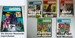 Wonderful World Of Disney Magazines Lot Of 6 1968-1970 All Labels