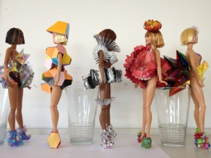 FredBulterStyle blogspot com Barbie Futurisitic Fashion Art For Selfridges 2