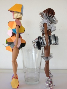 FredBulterStyle blogspot com Barbie Futurisitic Fashion Art For Selfridges 3